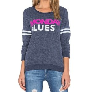 Chaser Monday Blues sweatshirt distressed